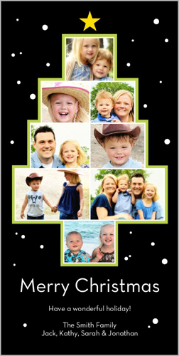 Shutterfly Picture Tree Christmas 4x8 photo card
