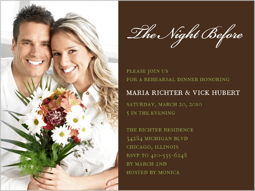 Shutterfly The Night Before Rehearsal Dinner Invitation