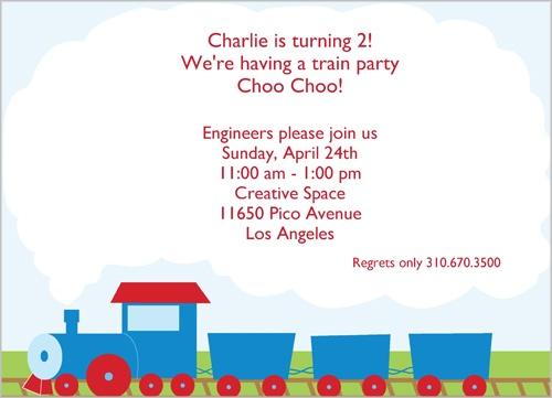 Shutterfly Choo-choo Train Birthday Invitation